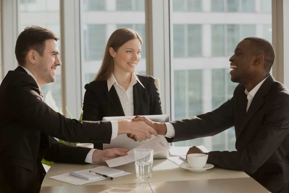 Insurance Broker with client