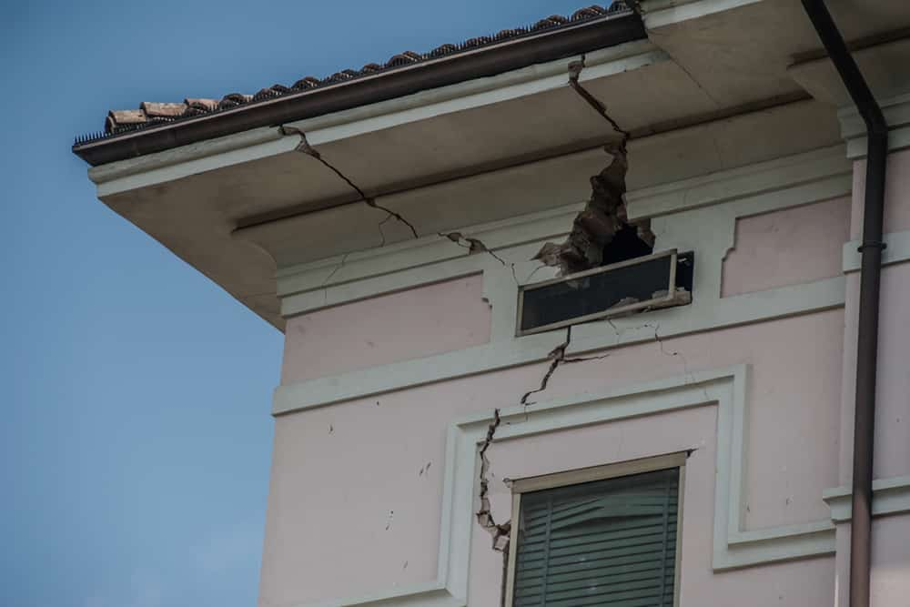 Apartment with Earthquake Damage