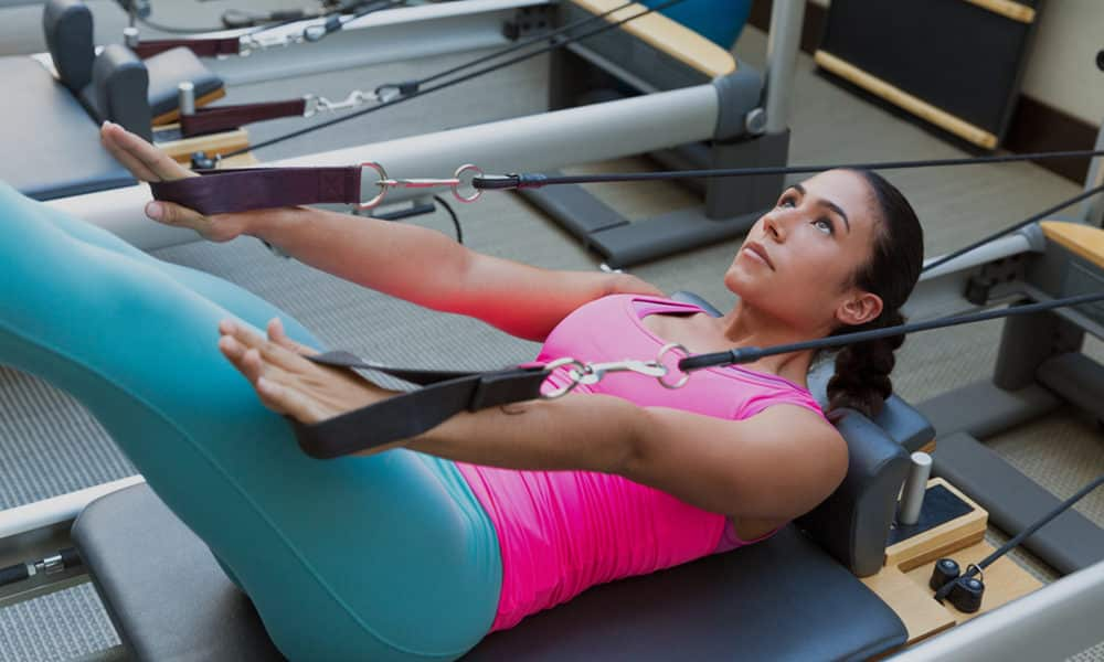 A Woman Doing Pilates