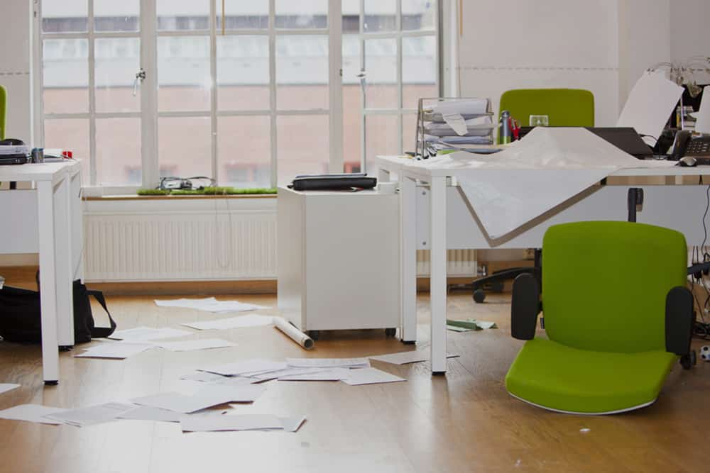 Wrecked office