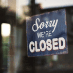 business closed sign; business emergency response plan