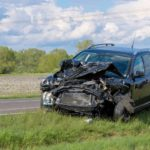 damaged car, car accident with an uncooperative driver