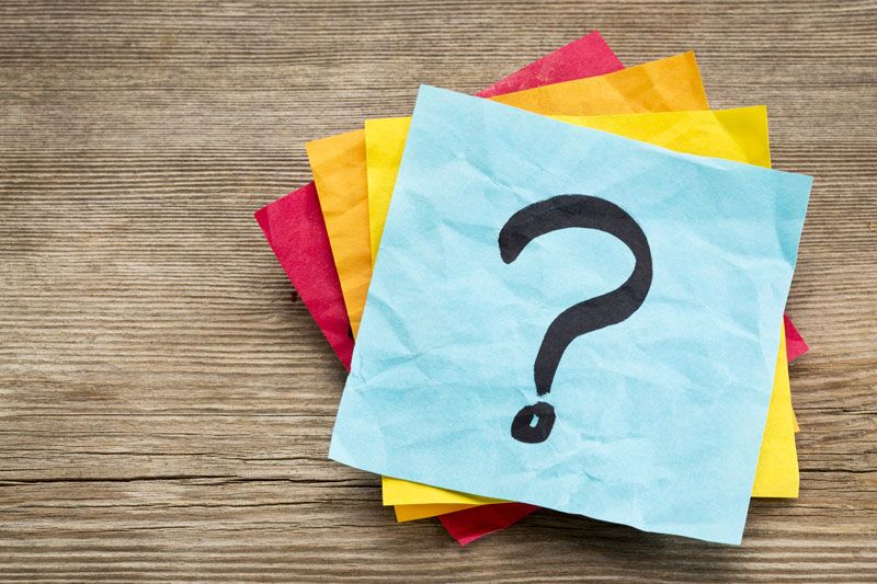 sticky notes with question mark on it, what to ask about your business insurance